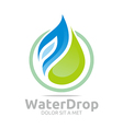 water drop pure symbol icon business design vector image vector image