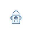 water towerhydrant line icon concept water tower vector image vector image
