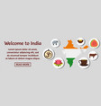 welcome to india banner horizontal concept vector image