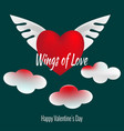wings of love set of valentines day icons vector image