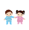 Toddler boy and girl vector image