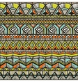 Tribal hand-drawn pattern vector image