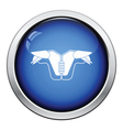 American football chest protection icon vector image vector image