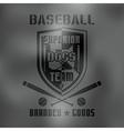 Baseball sport emblem Dark
