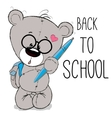 Bear with backpack vector image vector image