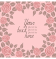 Beautiful background with pink roses vector image vector image