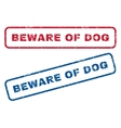 Beware Of Dog Rubber Stamps vector image vector image