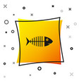 black fish skeleton icon isolated on white vector image vector image