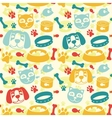 Bright seamless pattern vector image