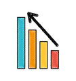 business graph with arrow financial stock data vector image vector image