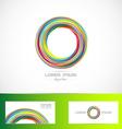 Business logo circle media it vector image vector image