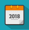 calendar new year icon flat style vector image