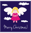 Card or invitation for Christmas with angel vector image