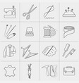 clothing repair service icons set vector image