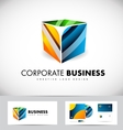 Corporate business 3d cube logo icon design vector image vector image