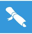 Diploma flat icon vector image vector image