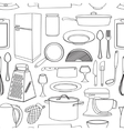 Doodle pattern kitchen vector image vector image