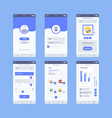 e-commerce ui web template smartphone digital vector image
