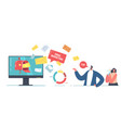 email marketing technology concept tiny vector image