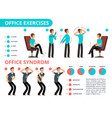 employee doing office exercises desk medical vector image vector image