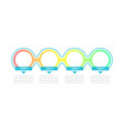 empty gradient circles infographic template vector image