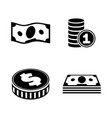 finance simple related icons vector image
