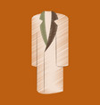 flat shading style icon clothes long coat vector image vector image