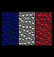 france flag collage of chemistry tube items vector image