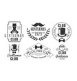 gentleman club vintage logo templates set retro vector image vector image