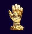 golden glove vector image vector image
