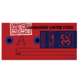 guangzhou limited stock clothing tag vector image