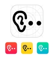 Hearing abstract icon vector image
