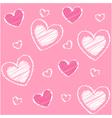 hearts valentine vector image vector image