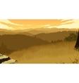 hills landscape vector image