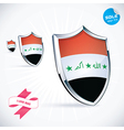 I Love Iraq Flag vector image