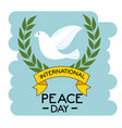 international peace day design vector image vector image