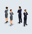 isometric businessmen front and back view vector image vector image
