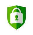 lock folded shield symbol design vector image