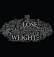 lose weight on hips its a package deal text vector image vector image