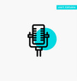 microphone multimedia record song turquoise vector image vector image