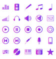 music gradient icons on white background vector image