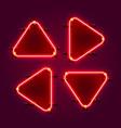 neon frame arrow set collection template design vector image vector image