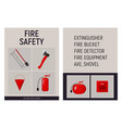 paper booklet fire safety concept vector image vector image