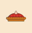 pie cake icon happy thanksgiving day autumn vector image