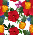 pineapples seamless patter4 vector image vector image