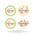 ramadan sale offer banner set design promotion vector image