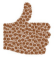 rating mosaic of coffee bean icons vector image