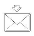 receive message line icon vector image