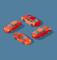 red car concept sedan automobile flat 3d vector image vector image