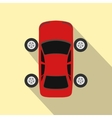 Repair car wheel flat icon with shadow vector image
